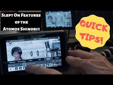 Under Rated Features Atomos Shinobi and Ninja V