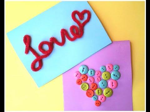 Easy Diy Valentine S Day Cards Youtube