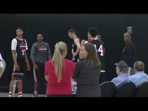 Justin Jackson Shoots 3-pointers At Blazers Workout