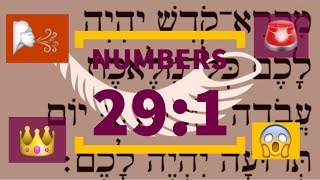 Numbers 29:1✡ Have fun learning Hebrew with emojis! Yom Teruah - Rosh HaShanah