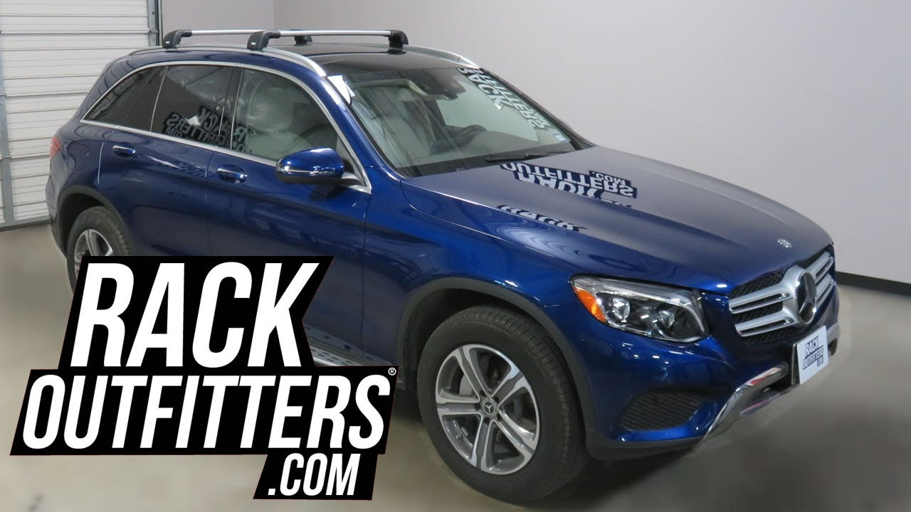 mercedes benz glc class suv with thule aeroblade edge roof rack