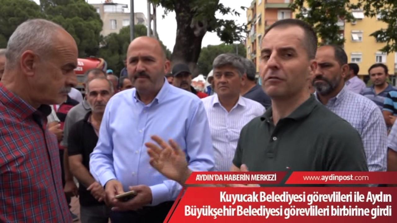 Download Kuyucak Belediyesi görevlileri ile Aydın Büyükşehir Belediyesi görevlileri birbirine girdi