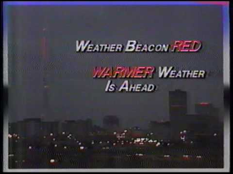 Weather Beacon Red Warmer Weather ahead