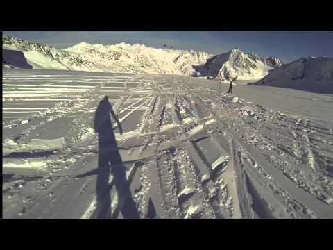 Skiing And Snowboarding In Pitztal, Austria, November 2013