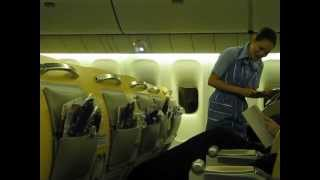 ANA Business Class service New York-Tokyo Narita ANA全日空ビジネスクラス機内食