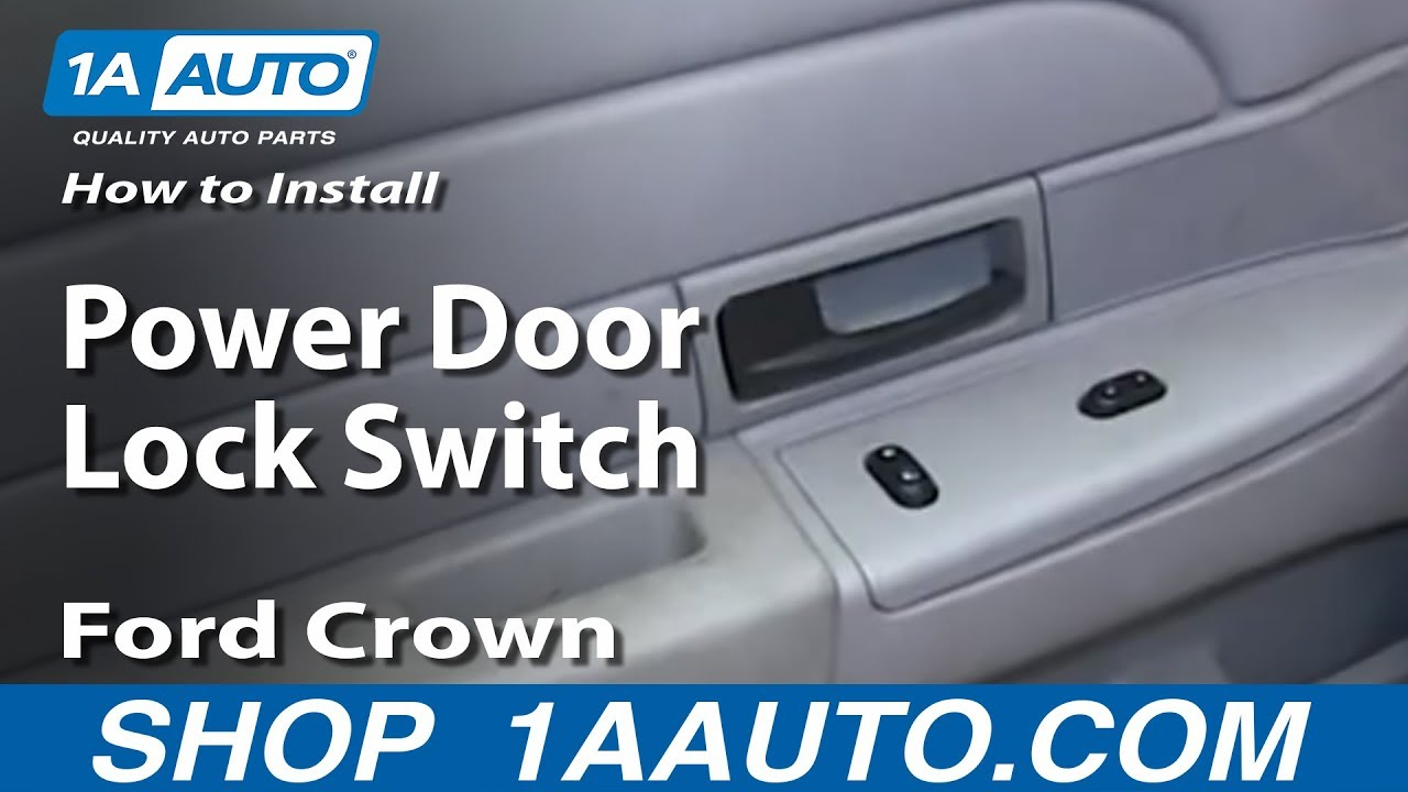 How To Install Replace Power Door Lock Switch 2003-08 Ford Crown ...