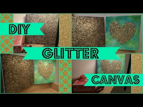 DIY wall art CANVAS with glitter and graphic prints ...