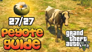 GTA 5 - All 27 Peyote Plant Locations Guide - Play As Animals Easter Egg Tutorial (GTA V)