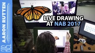 Digital Art Live Drawing Requests at NAB 2017 in Las Vegas #NABShow