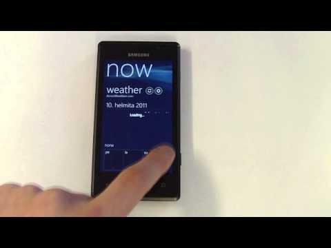 Samsung Omnia 7 - UI