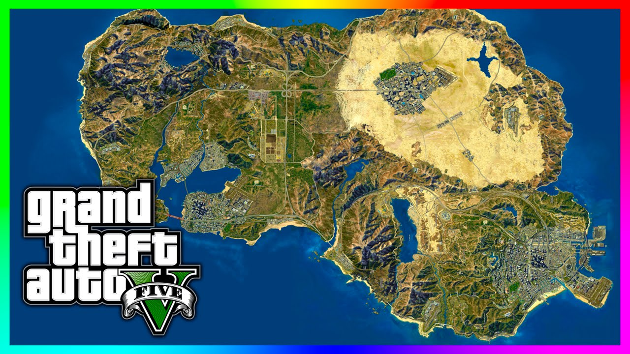Map grand theft auto v - Amazing Gta 5 Concept Map Featuring Las Venturas San Fierro Gta V Youtube