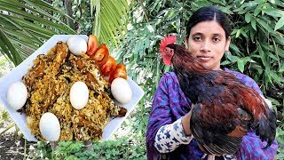 Traditional Morog Polao Recipe | Village Style Chicken Polao Cooking By Street Village Food