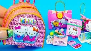 DIY Miniature Hello Kitty School Supplies
