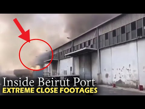 New Extremely Close Footage || Beirut port