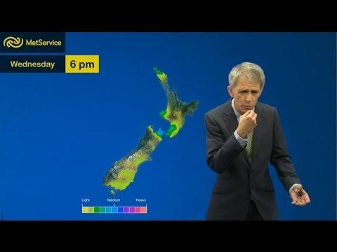 Dan Corbett - pick up sticks, pink lipstick, buffet - Met Service New Zealand 16 April 2014