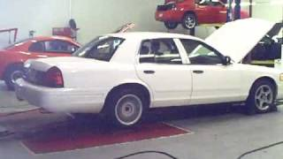 Crown Vic Dyno @ injected engineering 5-5