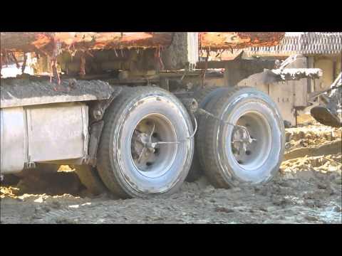 Near Stuck Logging Truck Saved by CTI System