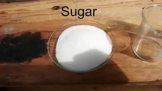 Sulfuric acid vs Sugar