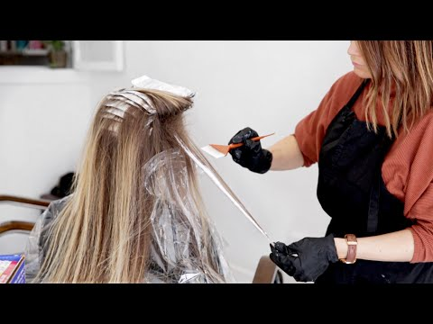 How To: Babylights & Balayage Hair Salon Color Tutorial | Single Service Transformation!