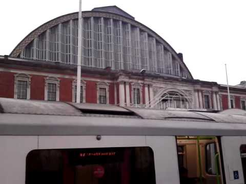 Getting of the Underground at Kensington Olympia Station - London