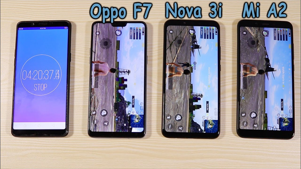 Huawei Nova 3i Vs Oppo F7 Xiaomi Mi A2 Pubg And Battery Test Case