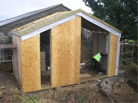 Timber frame extension, cornwall built on site in 3 days. www ...