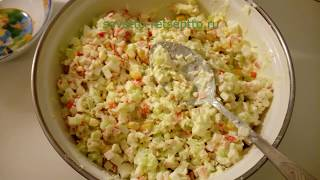 Рецепт самого простого крабового салата