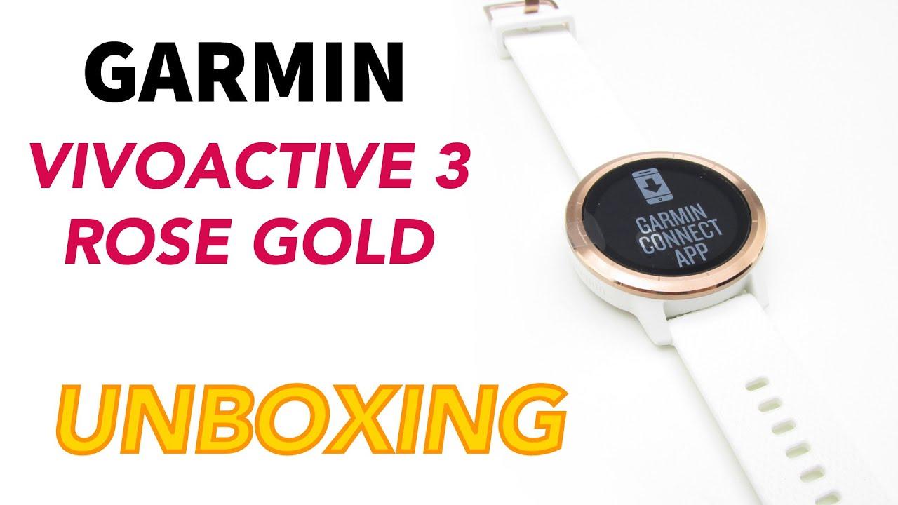Garmin Vivoactive 3 Rose Gold Unboxing HD (010-01769-05) - YouTube 1e36d6819c3