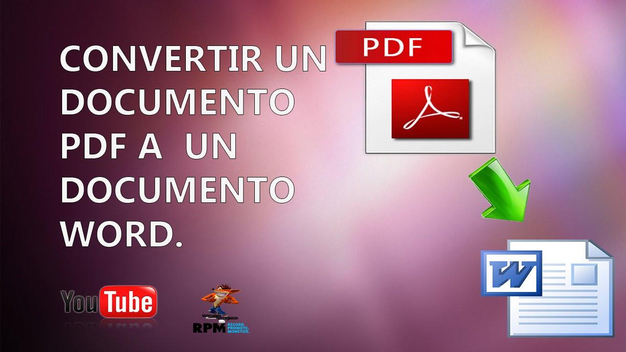 como convertir un documento pdf a word