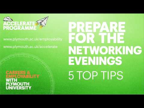 Prepare for the Networking Evenings – 5 top tips