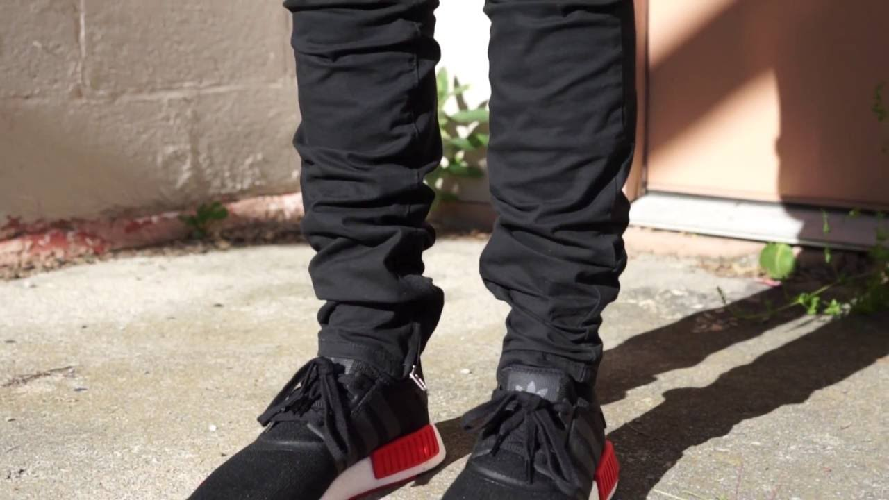 Fit of the Day  PacSun Drop Skinny jogger Pants  H M Oversized tee  Adidas  nmd - YouTube 9411a65736b5