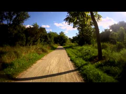 Cycling from Lockport to Joliet, IL on the I & M Canal Trail, Video 5