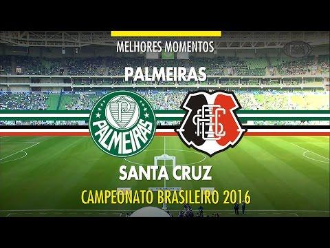 Melhores Momentos - Palmeiras 3 x 1 Santa Cruz - Brasileirão - 18/06/2016