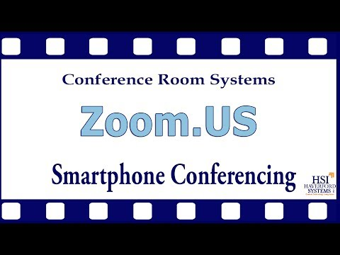 Using Zoom.US with a Smartphone by Conference Room Systems