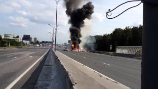Truck explosion caught on camera in HD!!  HOLY SH*T!