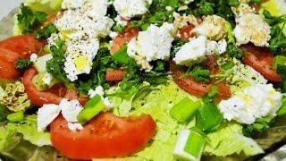 Салат легкий за 3 минуты. Домашние рецепты.