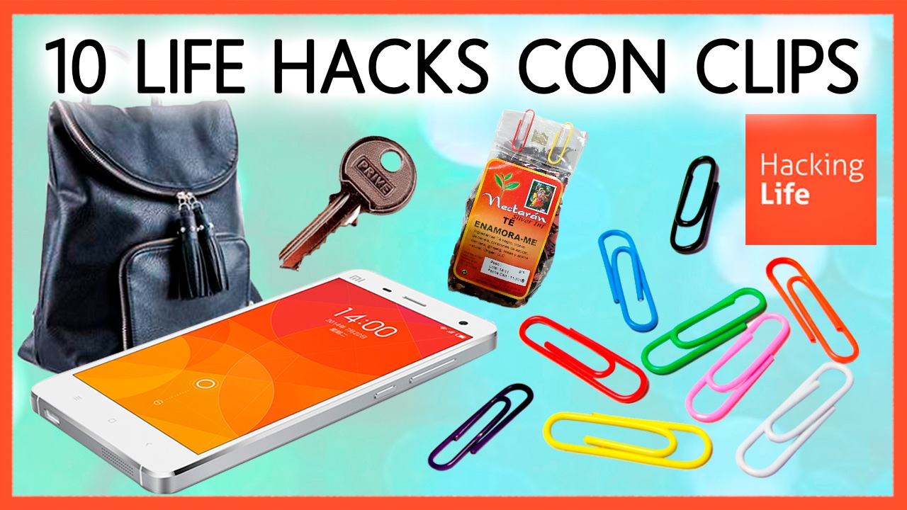 10 life hacks con clips clips life hacks in hacking life youtube. Black Bedroom Furniture Sets. Home Design Ideas