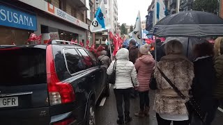 Movilización de trabajadores de supermercados
