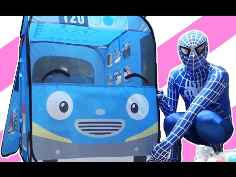 Thumbnail: SpiderMan with Tayo the little bus & Learn Colors