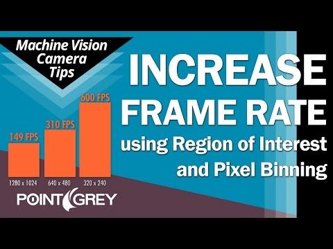 Increase Frame Rate: Region Of Interest (ROI) & Pixel Binning (Python 1300 CMOS)