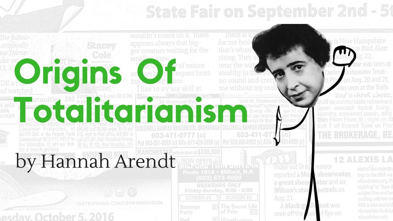 """hannah arendt s total domination on totalitarian """"the supreme goal of all totalitarian governments,"""" hannah arendt argued in a   1 arendt's discussion of total domination in her first major work, the origins of   john s conway, """"appendix i: the significance of the vrba-wetzler report on."""
