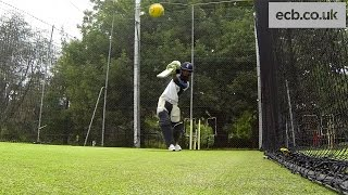 England cricket - Moeen Ali batting in the nets - GoPro footage