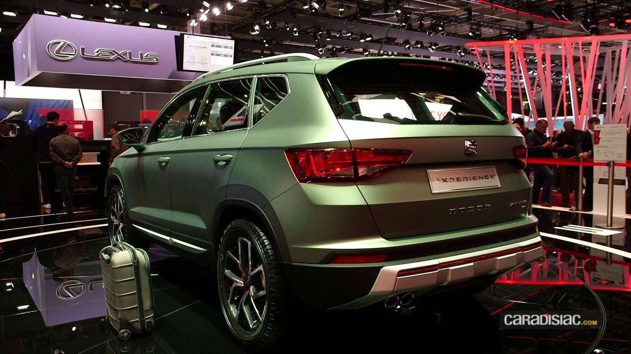 seat ateca x perience en direct du mondial de paris 2016 youtube. Black Bedroom Furniture Sets. Home Design Ideas