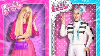Девушка-Барби VS Девушка-LOL / 24 часа челлендж!