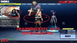 (Trainwreckstv GETS 2000$ DONATION) Fortnite Battle Royale WTF & Funny Moments Episode #29