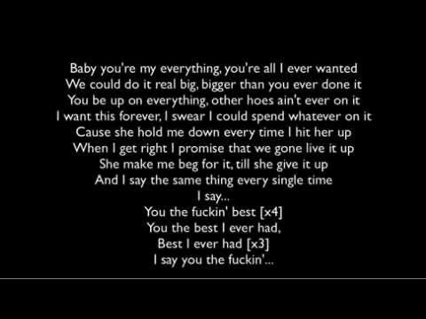 Drake-Best I Ever Had(Lyrics)