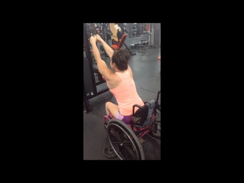 Workout video for people in wheelchairs. No Excuses!!!!!