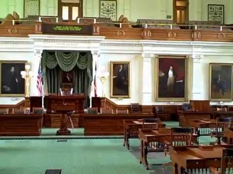 Texas Capital Building Inside State Senate Chamber