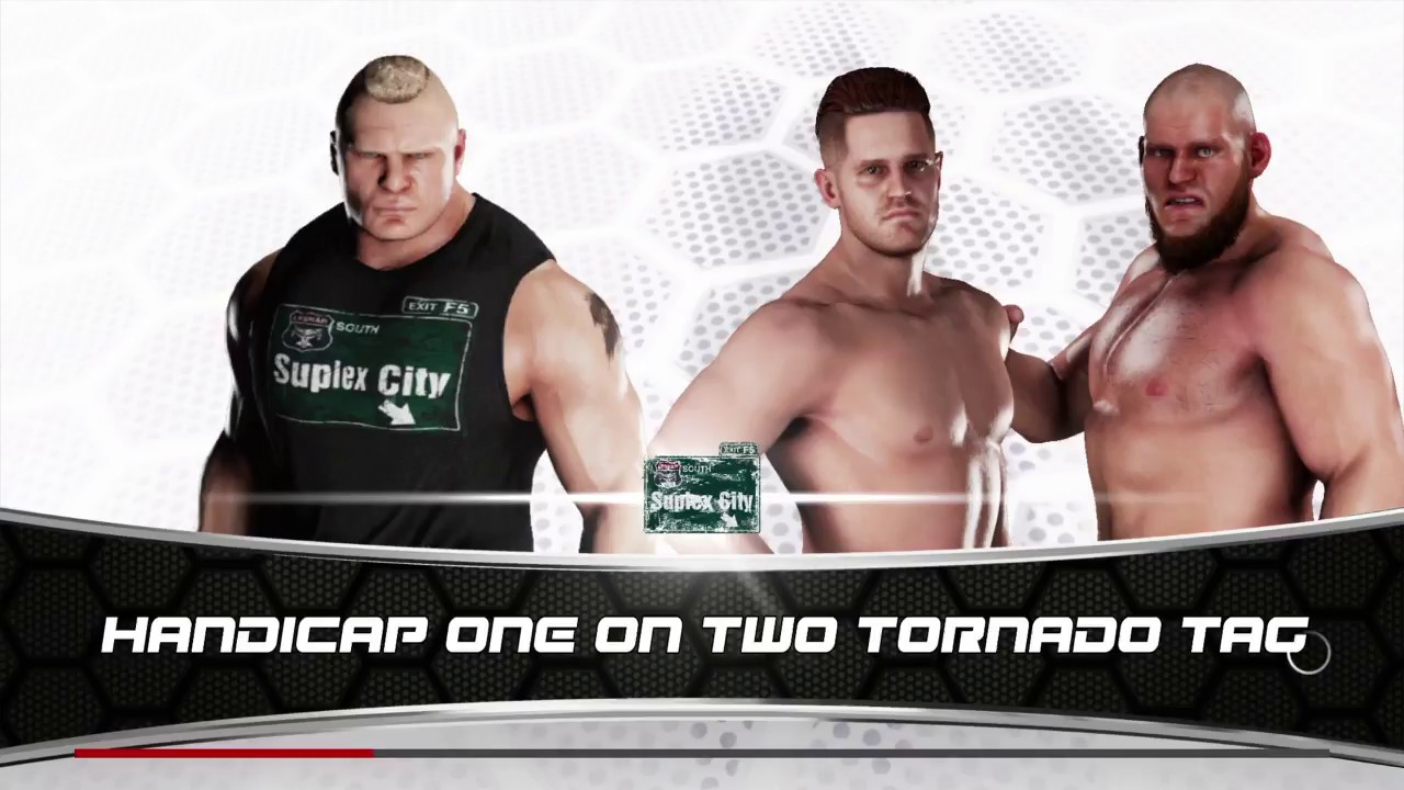 Two vs 1 tag team match