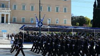 H στρατιωτική παρέλαση της 25ης Μαρτίου